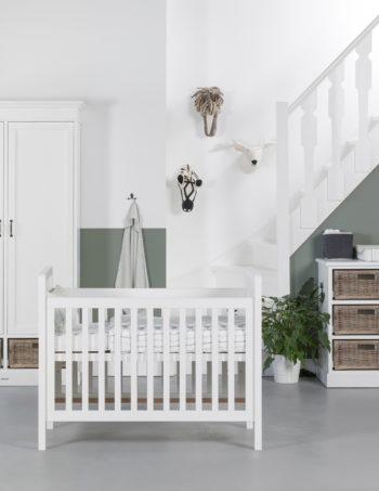 Kidsmill La Première Babykamer Riet | Bed 60 x 120 cm + Commode + Kast 1-Deurs