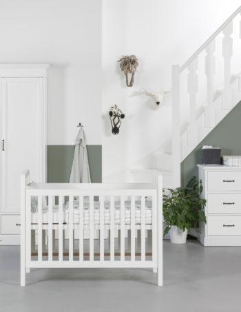 Kidsmill La Première Babykamer Wit | Bed 60 x 120 cm + Commode + Kast 1-Deurs
