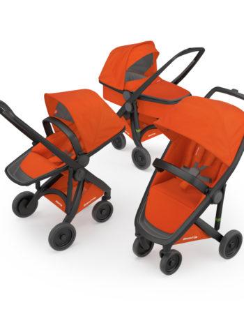 Greentom 3-in-1 Buggy Black - Orange