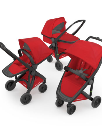 Greentom 3-in-1 Buggy Black - Red