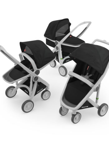 Greentom 3-in-1 Buggy Grey - Black