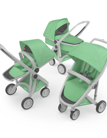 Greentom 3-in-1 Buggy Grey - Mint