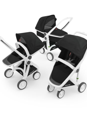 Greentom 3-in-1 Buggy White - Black