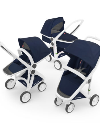 Greentom 3-in-1 Buggy White - Blue
