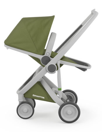 Greentom Reversible Buggy Grey - Olive