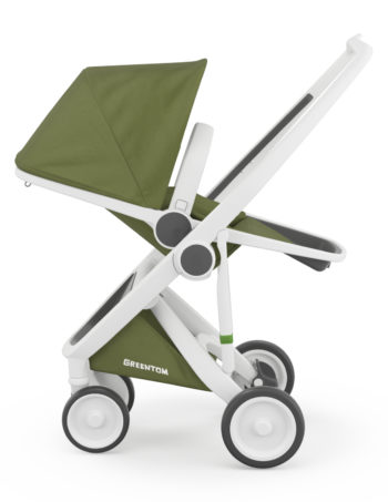 Greentom Reversible Buggy White - Olive