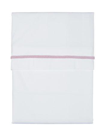 Kidsmill Knitted Ledikantlaken White / Pink 120 x 150 cm