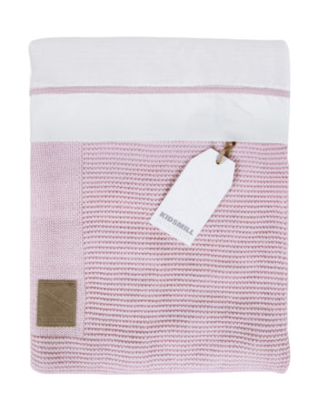 Kidsmill Knitted Wiegovertrek Pink 80 x 80 cm