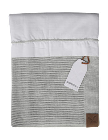 Kidsmill Wiegovertrek Knitted Grey 80 x 80 cm