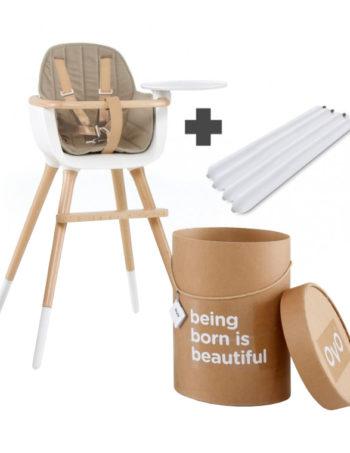 Ovo One City Luxe Kinderstoel Wit / Beige
