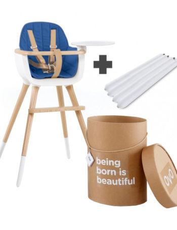 Ovo One City Luxe Kinderstoel Wit / Blauw
