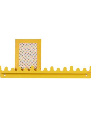 Roommate Doodle Drop Wandplank Yellow