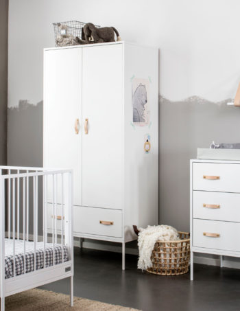 Coming Kids Bliss Babykamer Wit | Commode + Kast 2-Deurs