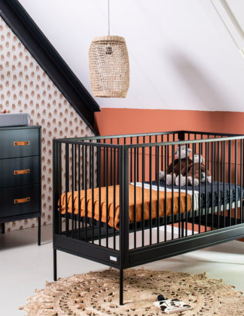 Coming Kids Bliss Babykamer Zwart | Commode + Kast 2-Deurs