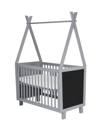Coming Kids Framed Babybed 60 x 120 cm Grey / Blue