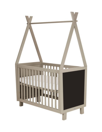 Coming Kids Framed Babybed 60 x 120 cm Grey / Green