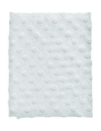 Cottonbaby Dot Ledikantdeken Lichtblauw Melee 120 x 150