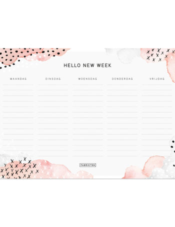 Fabrikten Watercolour Weekplanner