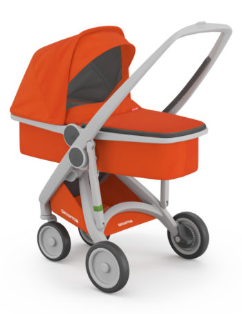 Greentom Carrycot Buggy Grey - Orange