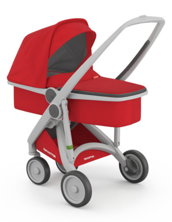Greentom Carrycot Buggy Grey - Red
