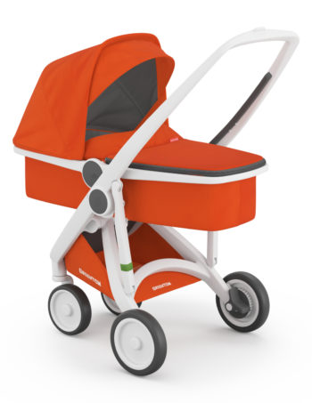 Greentom Carrycot Buggy White - Orange