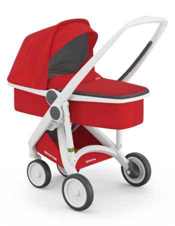 Greentom Carrycot Buggy White - Red