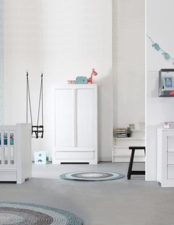 Kidsmill Bretagne Babykamer Wit | Bed 70 x 140 cm + Commode + Kast