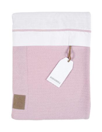 Kidsmill Knitted Dekbedovertrek Pink 100 x 135 cm