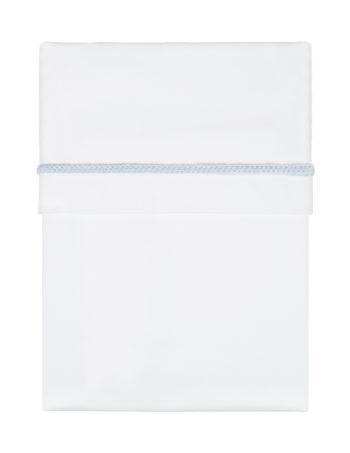 Kidsmill Knitted Wieglaken White / Blue 75 x 100 cm