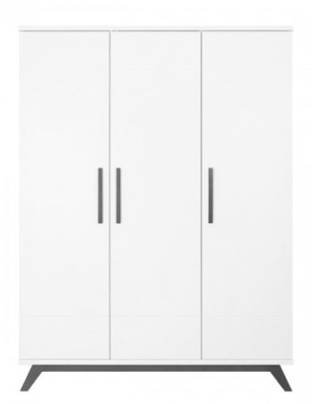 Bopita Levi 3-Deurs Kledingkast White / Grey