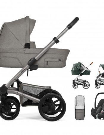 Mutsy Kinderwagen Nio North Stormy Weather - Warm Grey Frame + Maxi-Cosi Autostoel + Accessoires