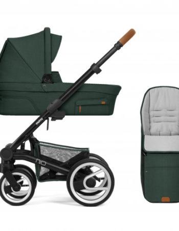 Mutsy Kinderwagen Nio Adventure Pine Green - Black Frame + Voetenzak