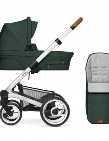 Mutsy Kinderwagen Nio Adventure Pine Green - Silver Frame + Voetenzak