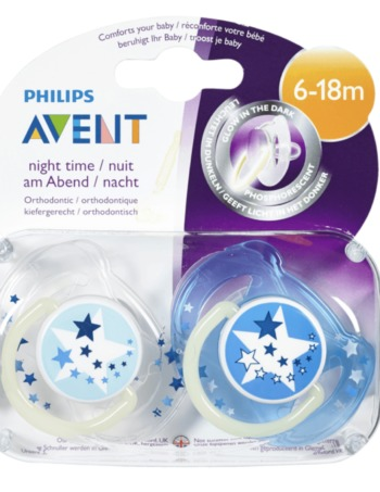 Philips Avent Fopspeen - Night Time - 6 | 18m - Blauw