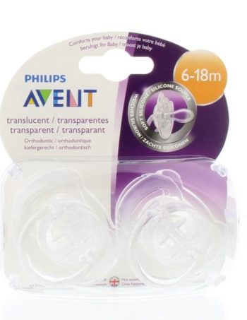 Philips Avent Fopspeen - 6 | 18m - Transparant