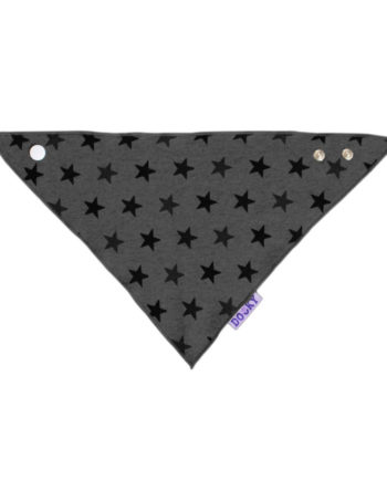 Dooky Dribble Bib Star Bandana Slab Grey
