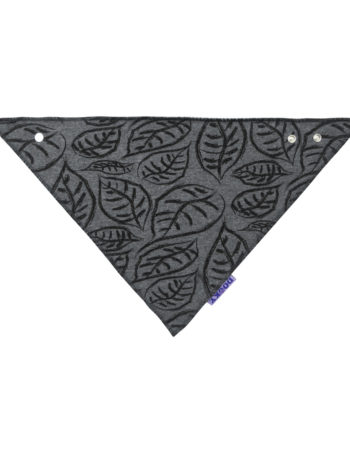Dooky Leaves Dribble Bandana Slab Grey