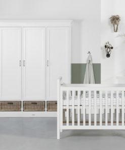 Kidsmill La Première Babykamer Riet | Bed 60 x 120 cm + Commode + Kast 3-Deurs
