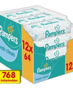 Pampers Fresh Clean Billendoekjes - 768 babydoekjes
