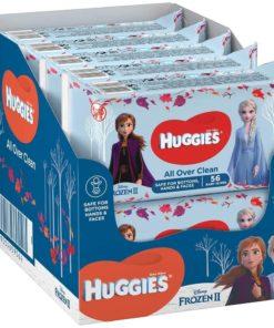 Huggies Disney Frozen II All Over Clean Billendoekjes - 560 babydoekjes