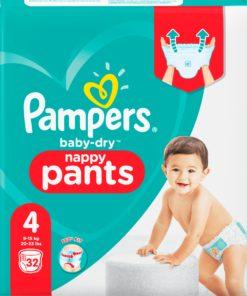 Pampers Baby Dry Pants - Maat 4 -Small Pack - 32 luierbroekjes - New