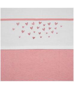 Meyco Hearts Ledikantlaken Oudroze 100 x 150 cm