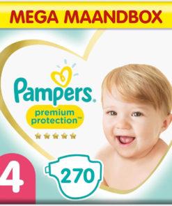 Pampers Premium Protection - Maat 4 - Mega Maandbox - 270 luiers